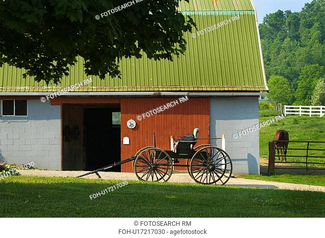 farm, without, carriage, barn, horse, buggy