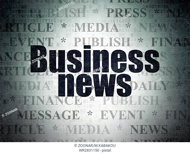 News concept: Business News on Digital Data Paper background