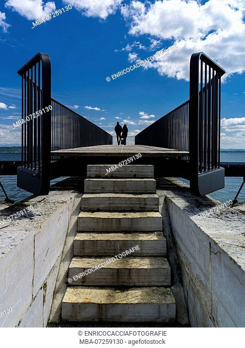 Lookout jetty at Lake Neuchâtel in Neuchâtel