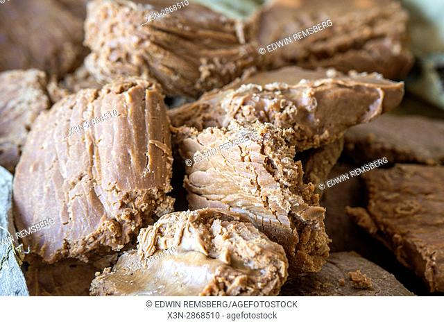 Jaggery has been set and is ready to eat in Punjab, India