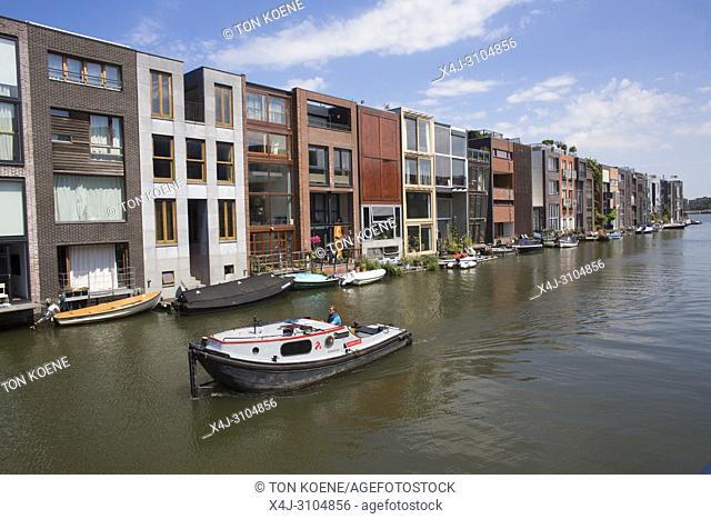 Modern architecture in Eastern Amsterdam (zeeburg)