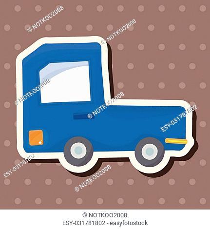 transportation truck theme elements vector,eps