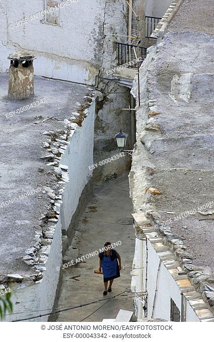 Street in Busquistar, Las Alpujarras. Granada province, Andalusia. Spain