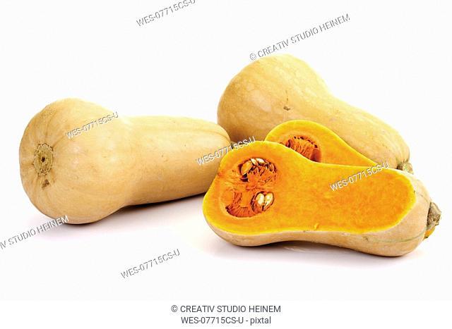Butternut pumpkins, close-up