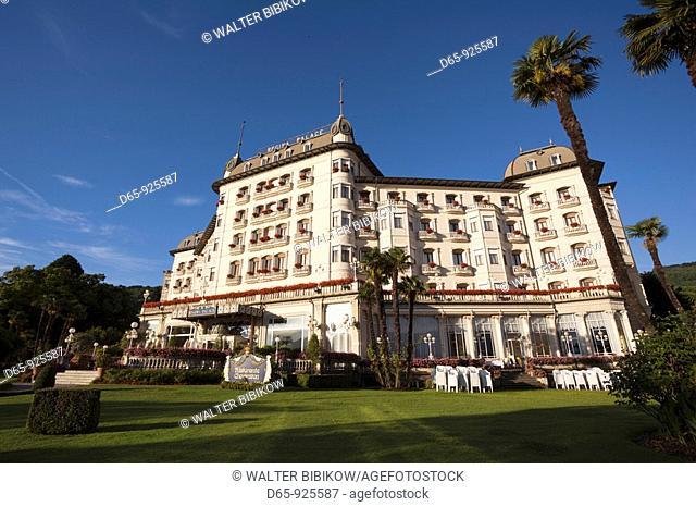 Italy, Piedmont, Lake Maggiore, Stresa, Hotel Regina Palace, morning