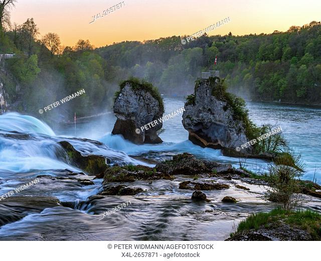 Rhine Falls at Schaffhausen, Canton of Schaffhausen, Switzerland, Europe