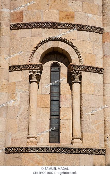 Spain, Avila de los Caballeros - The Basilica of San Vicente was built between the 11th and 14th centuries and shows a mixture of Romanesque and Gothic elements
