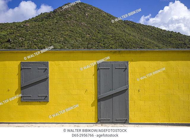 French West Indies, St-Barthelemy, Grand Fond, Anse de Grand Fond, house