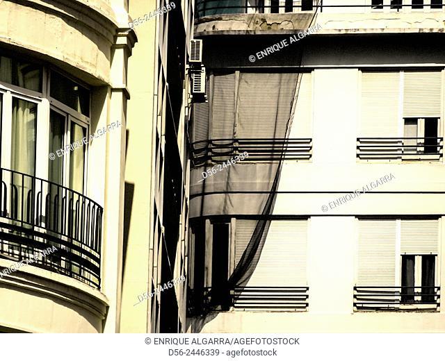 Building in refurbishment, Valencia, Spain