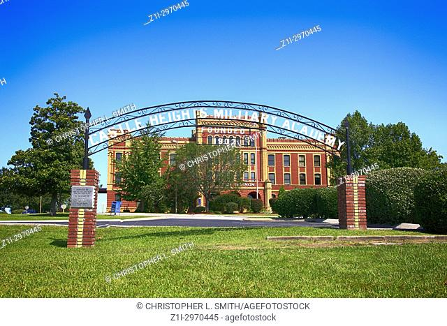 The archway to the once Castle Heights Military Academy in Lebanon TN, USA
