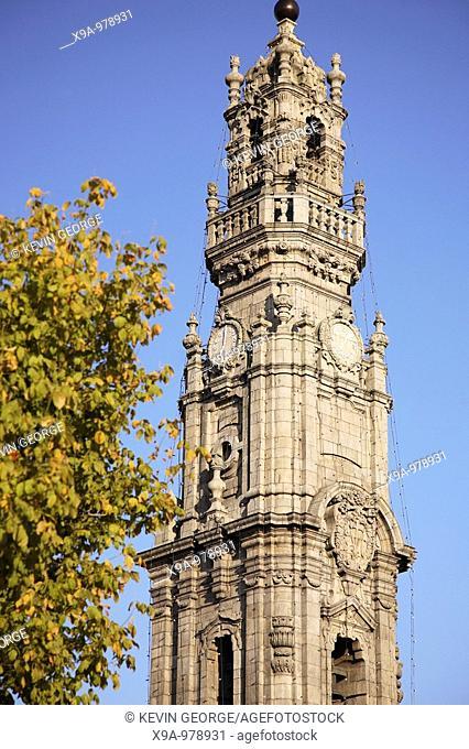 Clerigos Tower designed by Nasoni, Porto, Portugal