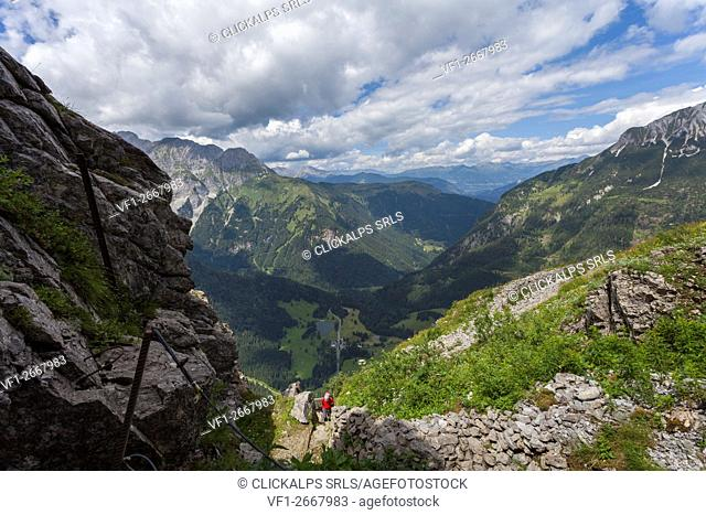 Kleiner Pal, Austria. Going up to the Austro Hungarian Empire front line