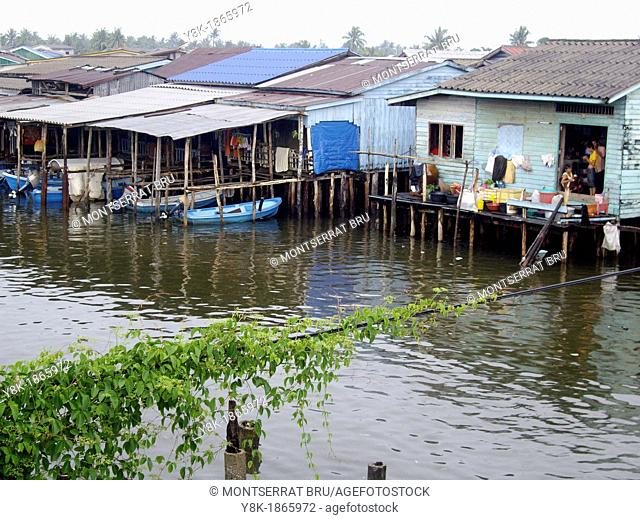 Houses on stilts at Koh Kong, Cambodia