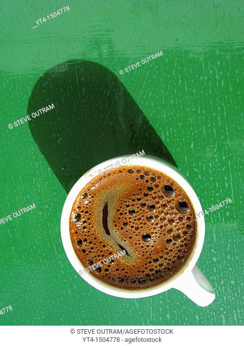 A cup of strong Greek Coffee
