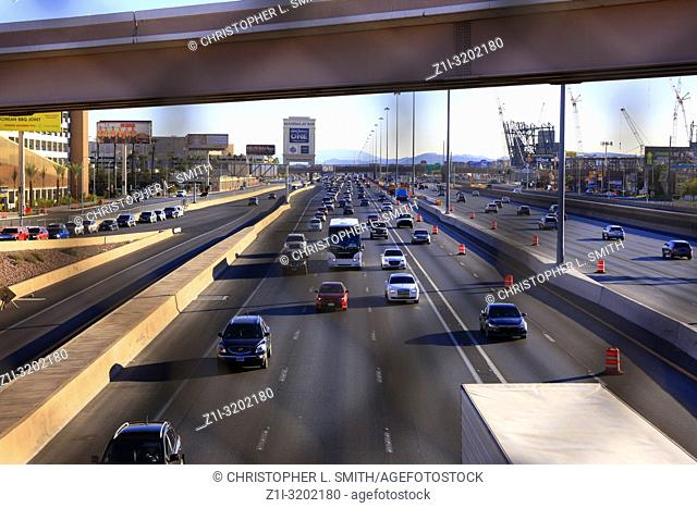 Interstate I-15 in Las Vegas, the main artery from Los Angeles