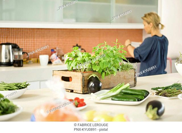 Woman working in the kitchen