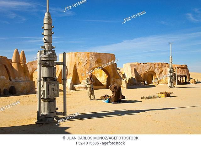 Scene of Star Wars. Salt Lake or 'Chott' Ell Yerid. Nelta. Desert of Southern Tunisia. Tunez. Africa