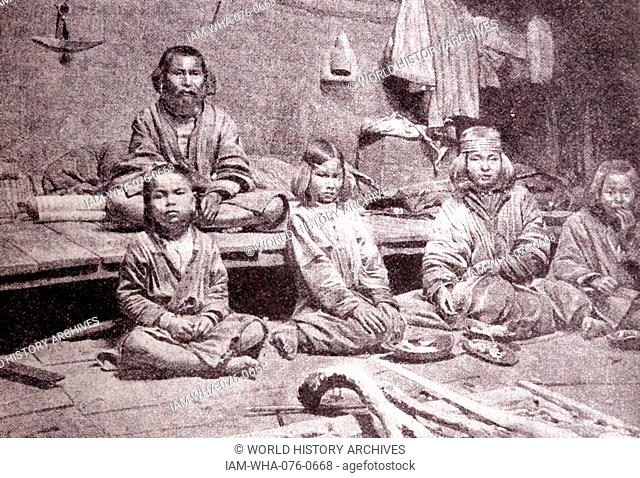 Ainu or Aynu; an indigenous people of Japan (Hokkaido; and formerly north-eastern Honshu) and Russia (Sakhalin and the Kuril Islands). 1900