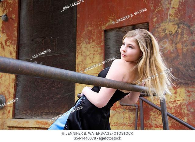 A teen girl outdoors
