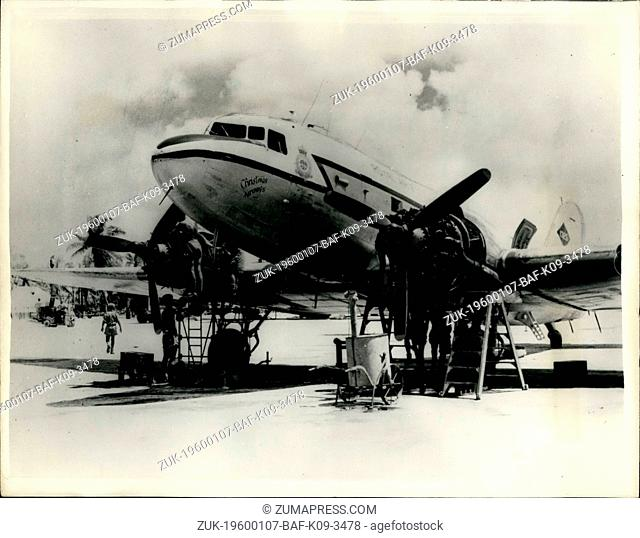 Feb. 26, 2012 - The R.A.F. In Christmas Island For Britain's Nuclear Tests. Dakota aircraft of the R.A.F. Transport Command with 'Christmas Airways'...
