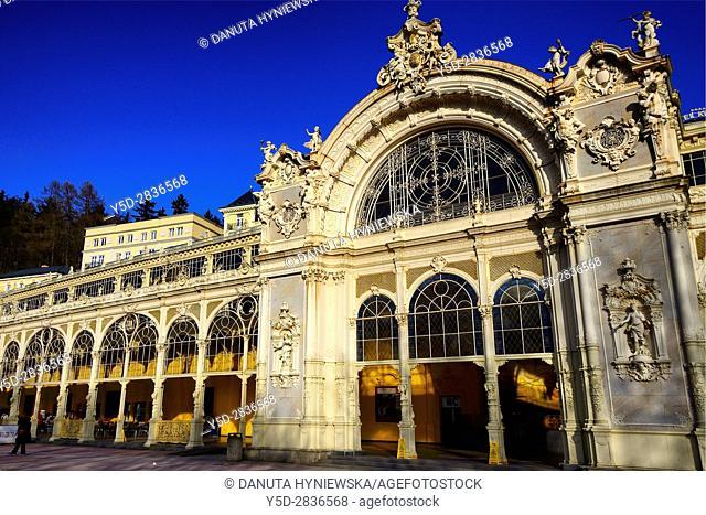 Colonnade, Marianske Lazne spa resort - Marienbad, Karlovy Vary Region, West Bohemia, Czech Republic, Europe