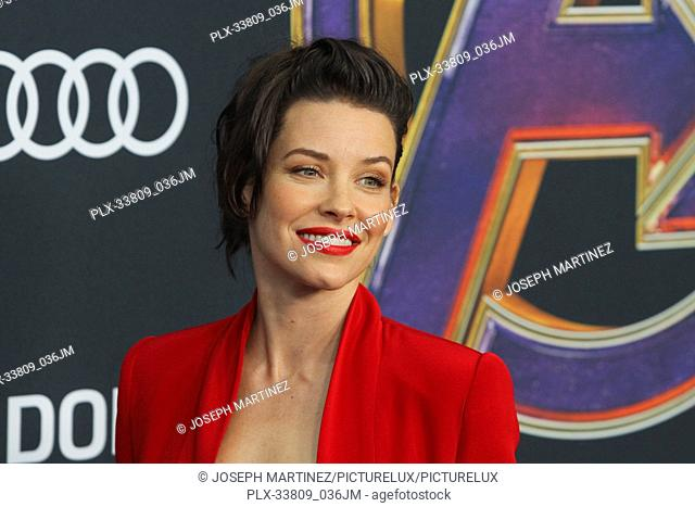 """Evangeline Lilly at The World Premiere of Marvel Studios' """"""""Avengers: Endgame"""""""" held at the Los Angeles Convention Center, Los Angeles, CA, April 22, 2019"""