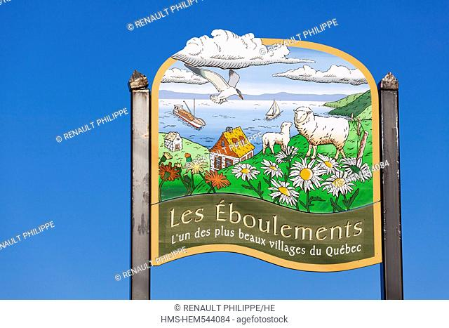 Canada, Quebec province, Charlevoix region, St Lawrence river raod, Les Eboulements, a member of the association of the most beautiful villages of Quebec