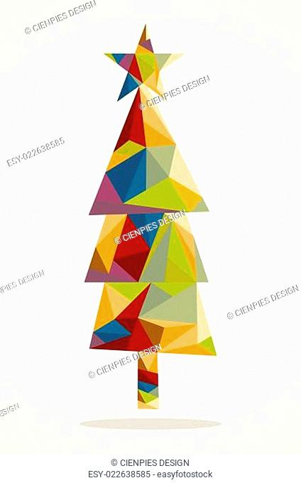 Merry Christmas trendy tree composition EPS10 file