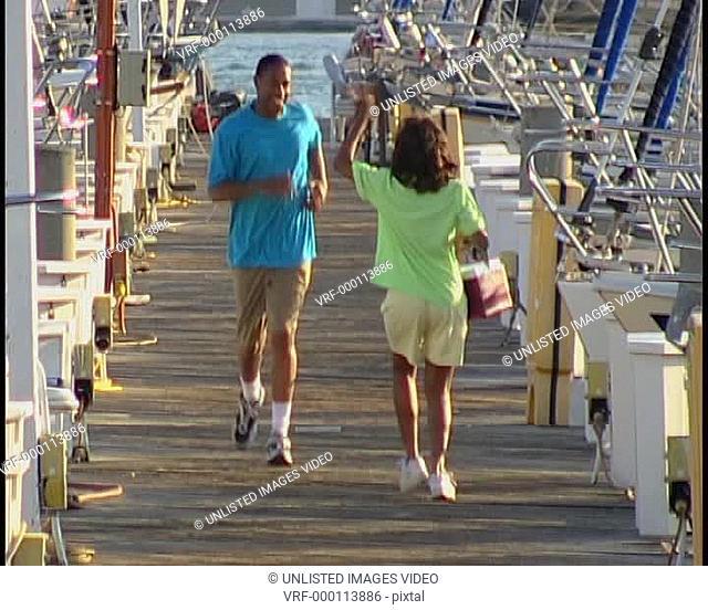 Couple at marina