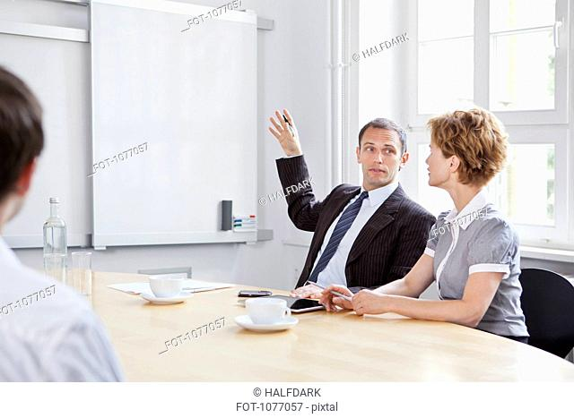 A business meeting