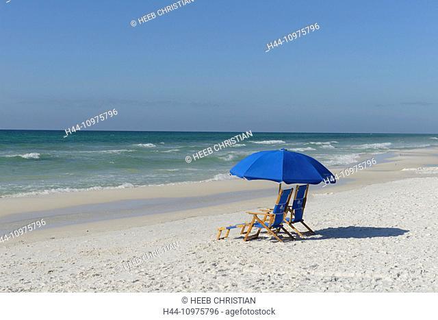 USA, Florida, Walton County, Gulf of Mexico, Seaside