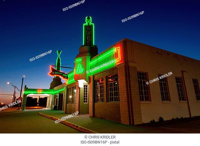 Old U Drop Inn, Route 66 landmark, Shamrock, Texas