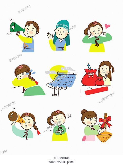 Various emotions of Korean people