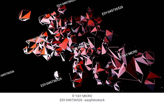 Big Data Abstract Background. Plexus effect. Network Connection Structure. 3d Illustration