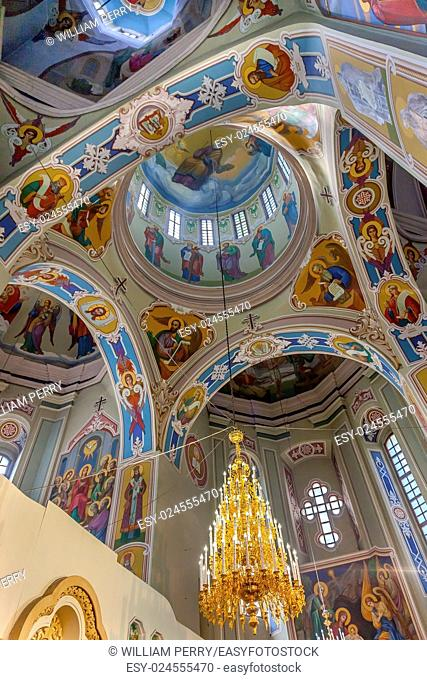 Saint George Cathedral Vydubytsky Monastery Kiev Ukraine. Vydubytsky Monastery is the oldest functioning Orthordox Monasatery in Kiev