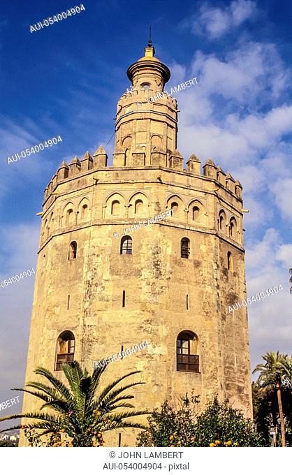 spain, andalusia, seville, torre del oro