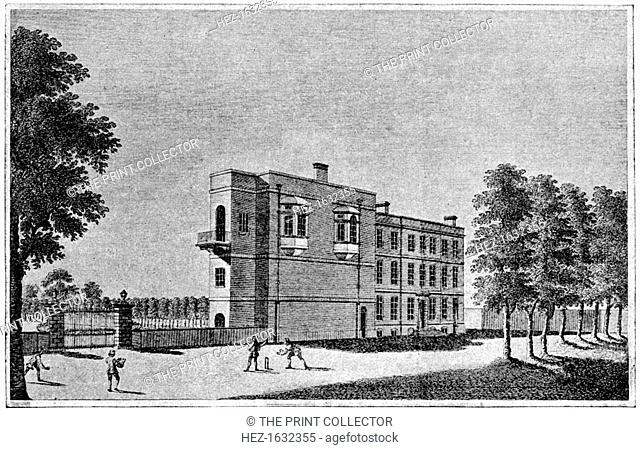 Kensington House (Palace), London, 1776 (1912). From Imperial Cricket, edited by P F Warner and published by The London and Counties Press Association Ltd...