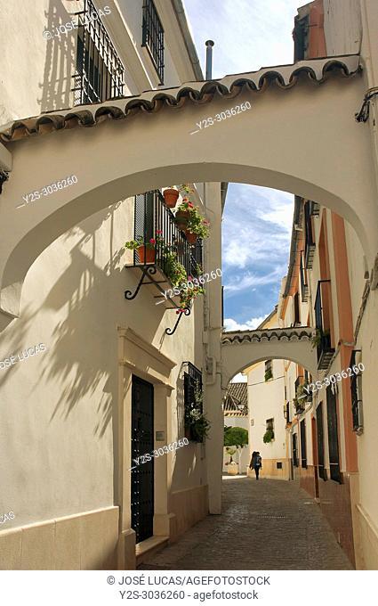 Cuesta de San Juan street. Neighborhood of El Cerro. Cabra. Cordoba province. Region of Andalusia. Spain. Europe