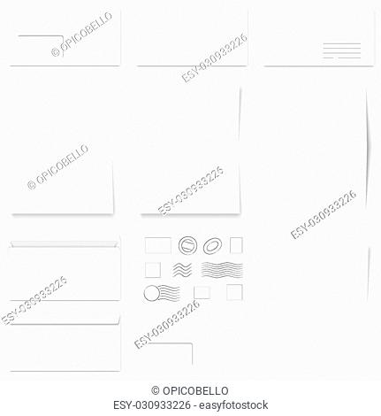 envelope window template stock photos and images age fotostock