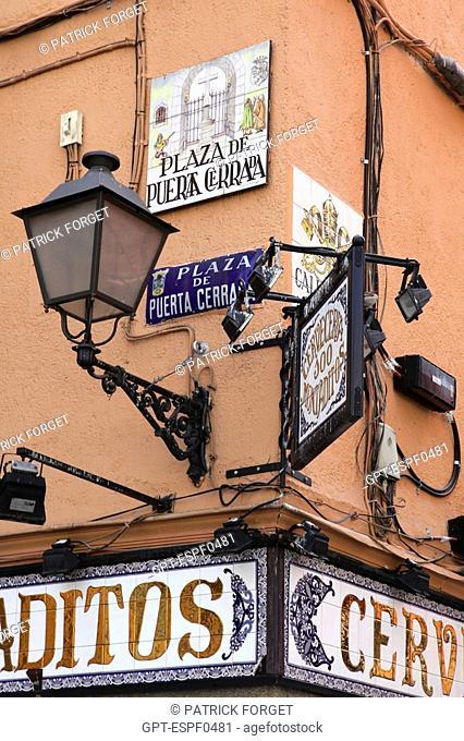 FACADE OF THE CAFE 'CERVECERIA SOO MONTADITOS', PLAZA PUERTA CERRADA, MADRID, SPAIN
