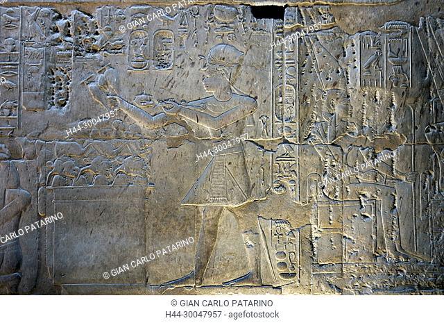 Luxor, Egypt. Temple of Luxor (Ipet resyt): the pharaoh Nebmaatra Amenhotep III
