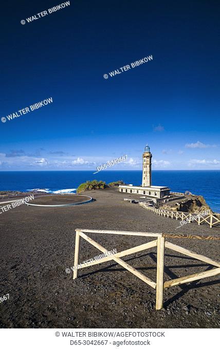 Portugal, Azores, Faial Island, Capelinhos, Capelinhos Volcanic Eruption Site, lighthouse