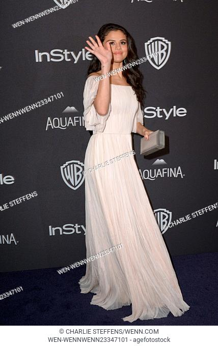 InStyle and Warner Bros 73rd Annual Golden Globes Post-Party at the Beverly Hilton Hotel Featuring: Selena Gomez Where: Los Angeles, California