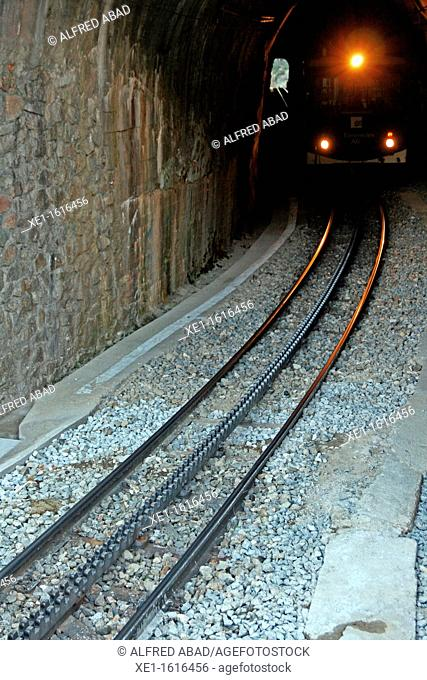 tunnel, cog railway, Vall de Nuria, Catalonia, Spain