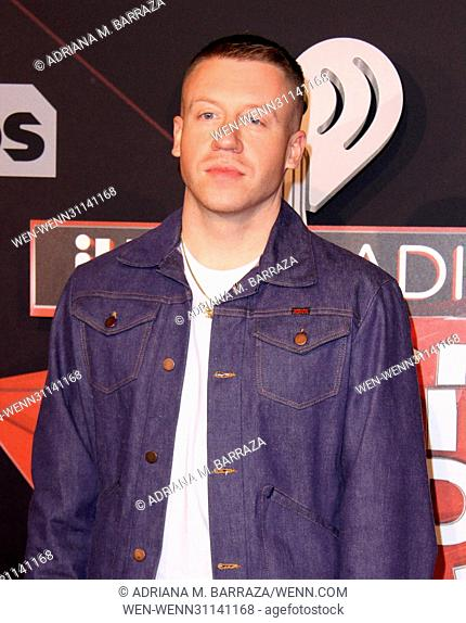 2017 iHeart Radio Music Awards held at The Forum - Arrivals Featuring: Macklemore Where: Los Angeles, California, United States When: 05 Mar 2017 Credit:...