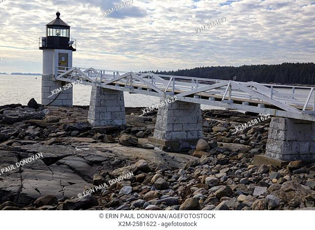 Marshall Point Lighthouse, established in 1832, in Port Clyde, Maine USA