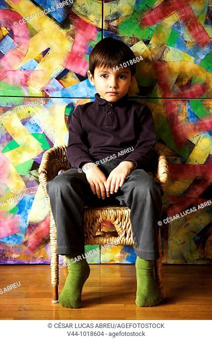 4 years old spanish boy, Madrid, Spain