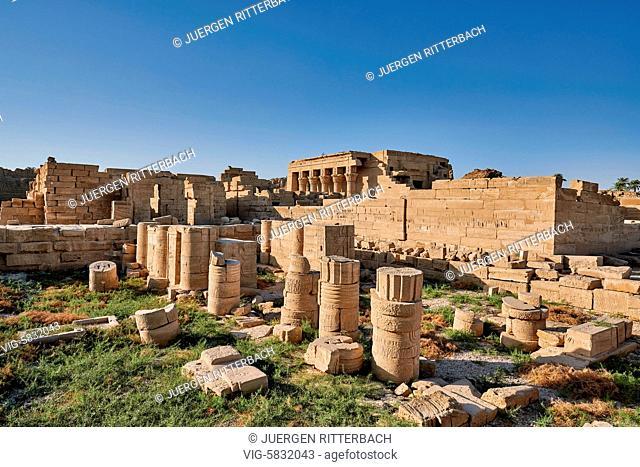EGYPT, QENA, 07.11.2016, ptolemaic Dendera Temple complex, Qena, Egypt, Africa - Qena, Egypt, 07/11/2016
