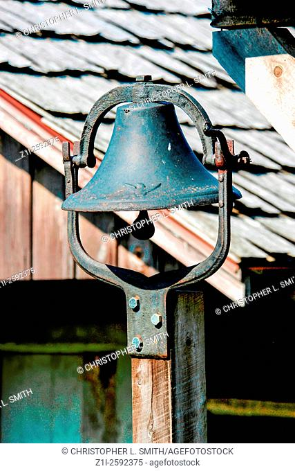 Farmhouse bell to call the workers from the fields