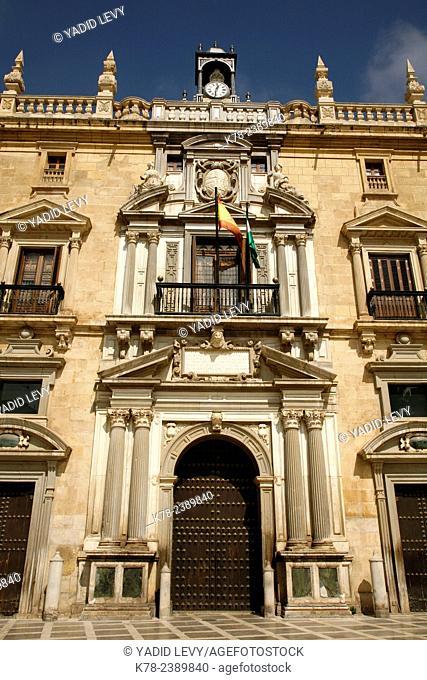 Real Chancilleria on Plaza Nueva, Granada, Andalucia, Spain